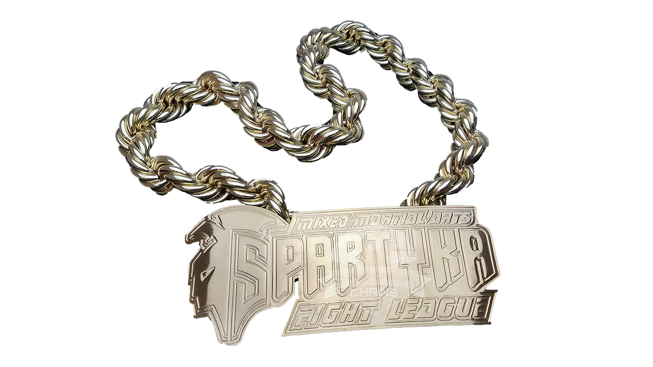 Spartyka Fight League Mixed Martial Arts Championship Chain Award