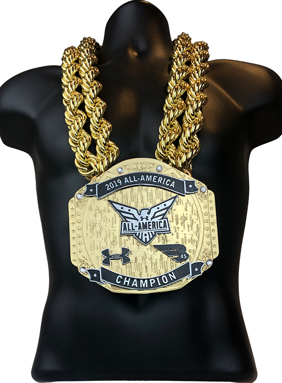 Under Armour 2019 All American Champion Championship Chain Award