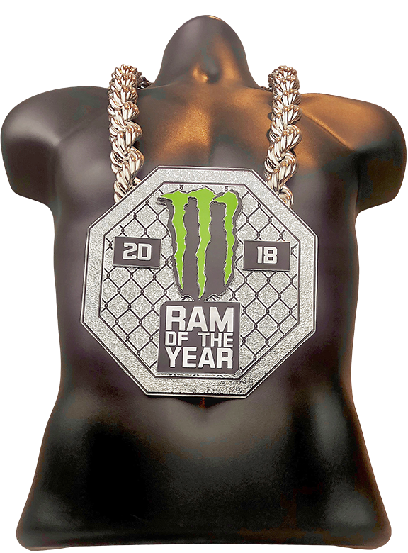 Monster Energy Ram of the Year 2018 Championship Chain Award
