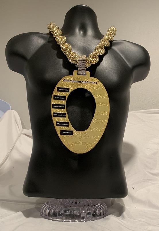 Toilet Seat Loser Championship Chain customized championship chain image