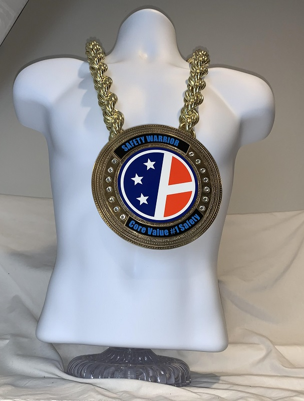 Zeus Gold Championship Chain customized championship chain image