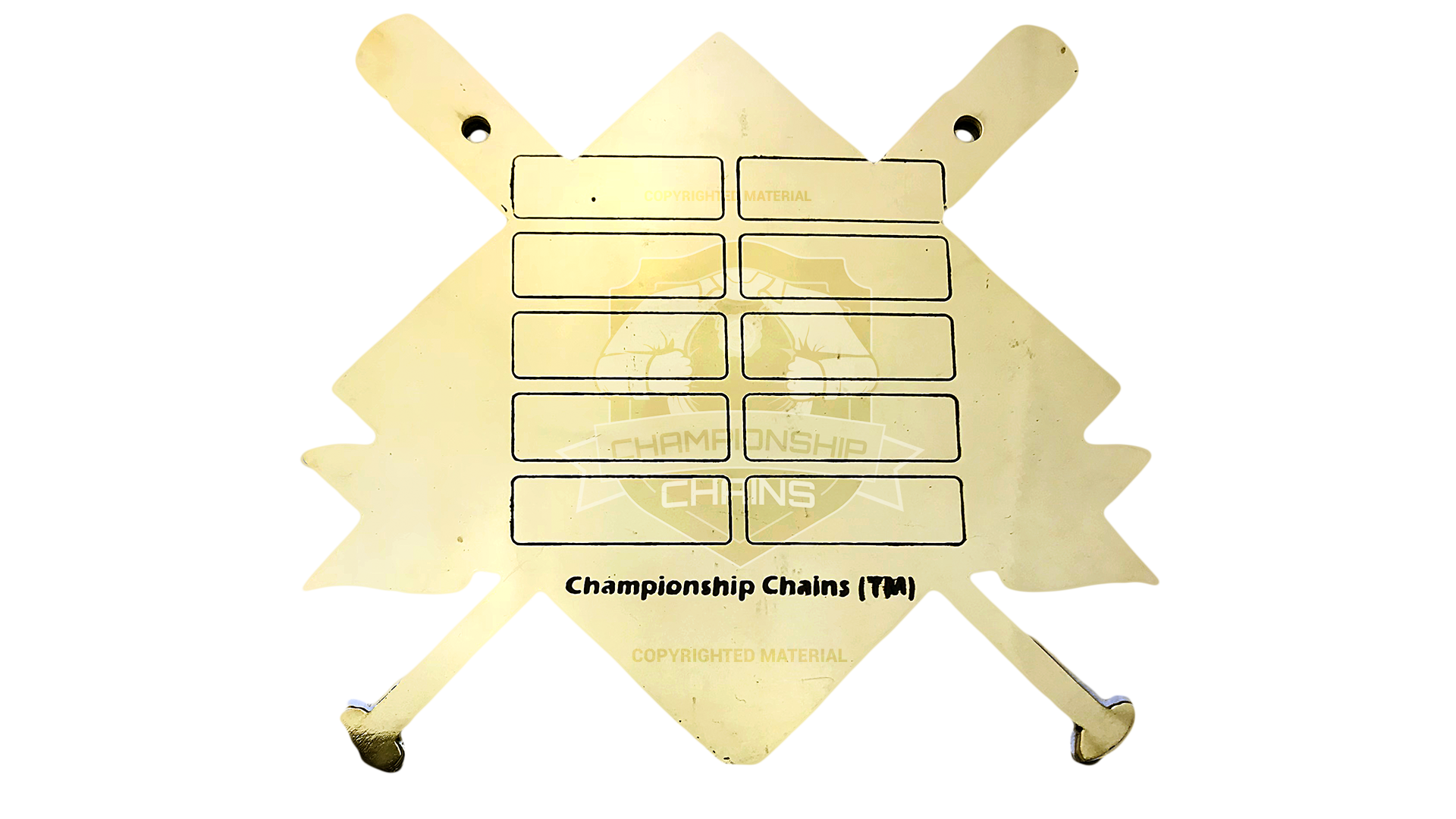 Homerun Baseball Championship Chain customized championship chain image