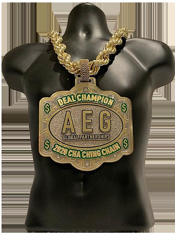 AEG Global Partnerships 2020 Cha-Ching Championship Chain