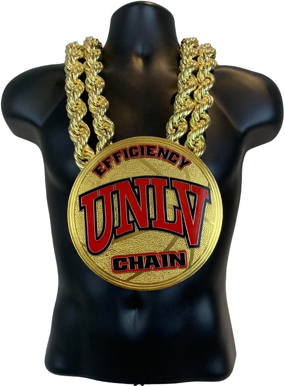 UNLV Basketball Efficiency Championship Chain Championship Chain Award