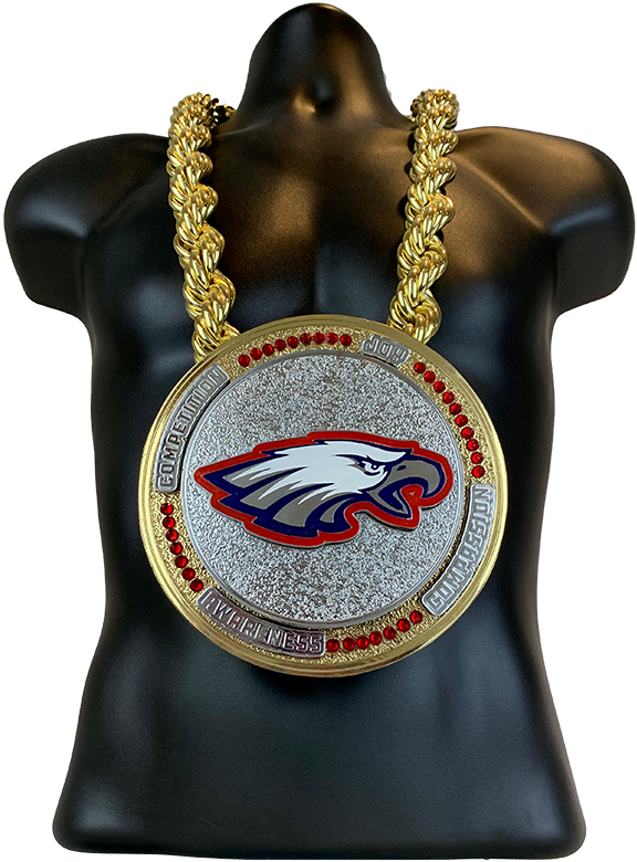 Eagles Spinner Championship Necklace Championship Chain Award